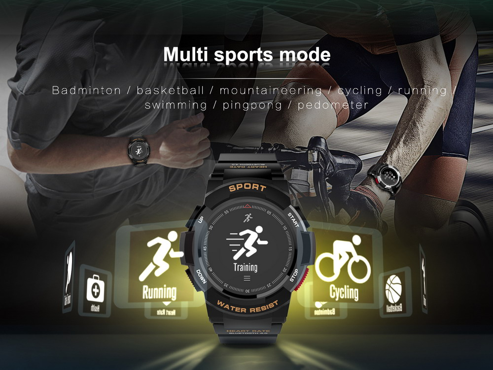 DTNO.1 Smart Watches F6 50m Waterproof Smartwatches Sports Nordic NRF51822 Smart Watch Sleep Monitor Remote Camera IOS Android (4)