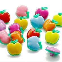 10pcs plastic button buttons color children 's clothes animal apple buckle 16mm crafts and scrapbooking products for crafts