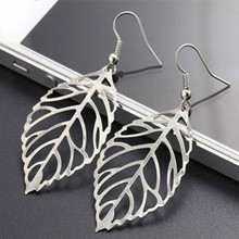 The Red Hand Available Fashion Sen Metal Earrings Earrings Wholesale Female Leaves New Leaves Fashion Jewellery China