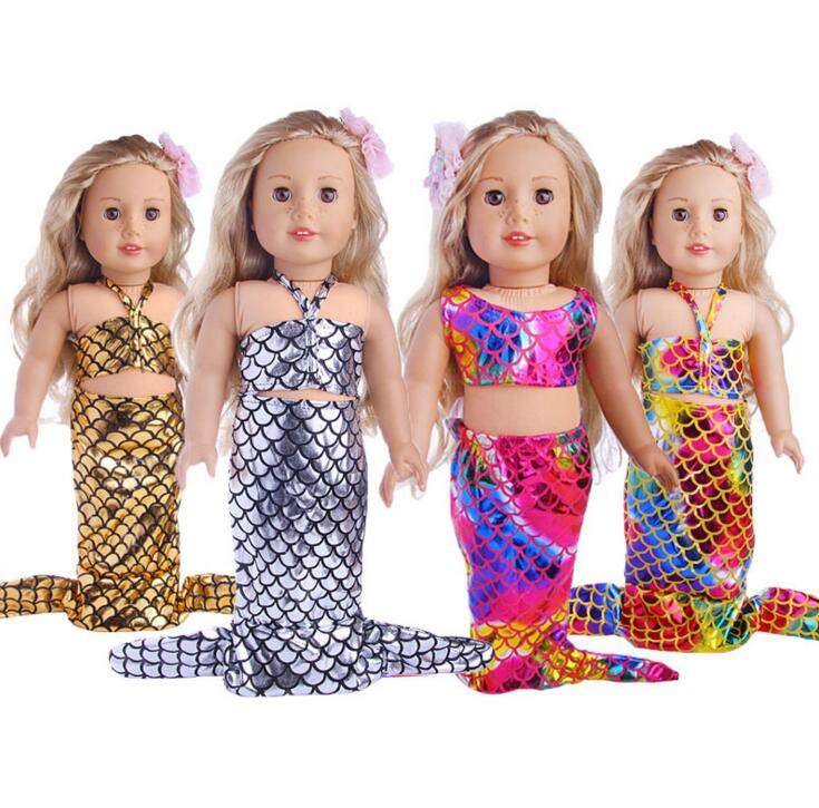 "Mermaid Outfit Swimsuit Fits 18/"" Inch Girl Doll Clothes American New In Package"