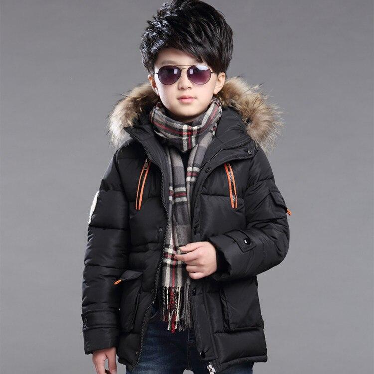 Children down coat 2017 new Korean winter boys long thicking warm Hooded coat Fashion long-sleeve zipper OvercoatОдежда и ак�е��уары<br><br><br>Aliexpress