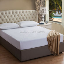 180X200CM Terry Cotton Mattress Cover 100% Waterproof Hypoallergenic Breathable - Vinyl Free Mattress Cover(China)