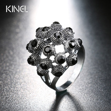 2017 Summer Fashion Black Rings For Women os Aneis de Casamento Gap Dragons Silver Skull Ring Female