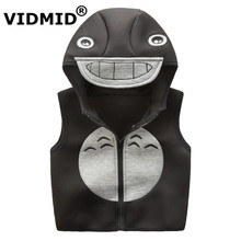 Kids Vest Waistcoats Fleece Boys Girls Vests cartoon Children's Waistcoats Kids Sleeveless Jacket Outerwear coats 2004 07(China)
