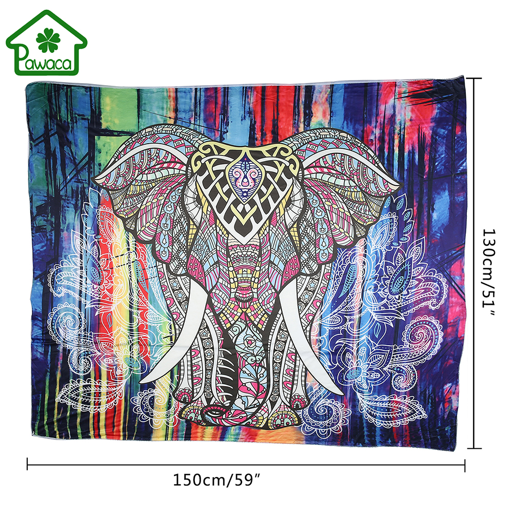 popular decoration hippie home buy cheap decoration hippie home hot colored printed elephant bohemian tapestry decorative mandala tapestry indian boho wall carpet hippie home decor