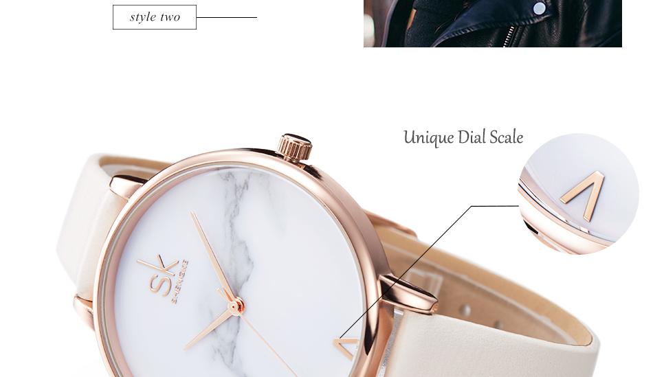 ساعة نسائية حزام جلد أنثى كوارتز الوان جميلة 5