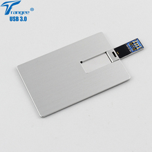 Trangee USB 3.0 Business Card USB Flash Drive 64GB 32GB 16GB 8GB USB Flash Memory Thumb Drive Credit Card Pendrive(China)