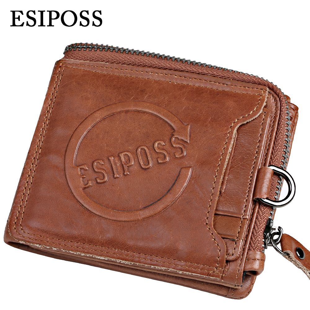 Top Genuine Leather Mens Wallet Removable Card &amp; ID Holders with Key Ring Short Bifold Male Organizer Walets Coin Bags<br><br>Aliexpress