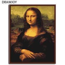 Mona lisa DIY Frameless Pictures Painting By Numbers On Wall Acrylic Painting Unique Gift Digital Canvas Oil Painting G241(China)