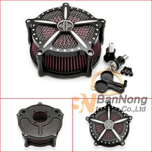 Free shipping Motorcycle E-gas CNC Cross Logo Air Cleaner Filter Kit For Harley Dyna Sportster Iron XL 883 1200 48 XL883 XL1200