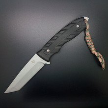 Mengoing Fox Fixed Blade Knife 440C Steel Military Combat Survival Straight Knives For Outdoor Camping(China)