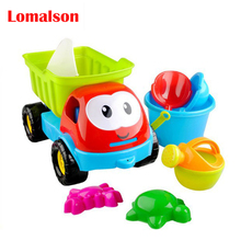 Big Size 8PCS Bath Toy Sandy Beach Tool Hourglass Sand Tools Kids Beach Toy Set Children Shovel Outdoor Fun Toy Seal Bucket Car