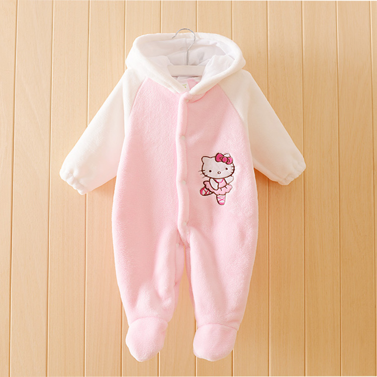 2017 Newborns Clothes Cartoon Baby Girl Rompers Autumn Winter Fleece Long Sleeve Newborn Baby Boy Clothes Ropa Bebes<br><br>Aliexpress