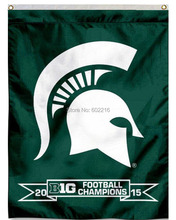Michigan State Spartans Big 10 Champs Banner House College Large Outdoor Flag 3ft x 5ft Football Hockey College USA Flag