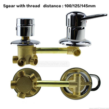 Copper shower panel shower cabin bathroom switching valve cold and hot water mixing valve