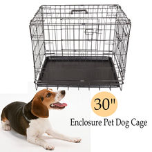 Dog Cage Crates Puppy Small Medium Large Pet Carrier Training Folding Metal Cage(China)