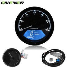 Universal Motorcycle Digital Speedometer LCD Backlight Odometer Tachometer Gauge Motorbike 12000RPM Alarm Function for Honda(China)