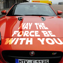 58cm x 21.75cm 2 x Funny May The Force Be With You (one For Each Side) Car Sticker For Truck Door Side, Vinyl Decal 8 Colors(China)