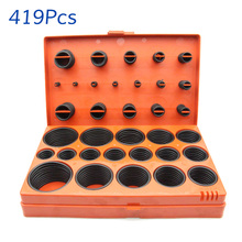 419 pcs o-ring Sealing ring Suit combination Nitrile butadiene rubber Oil resistant Vehicle maintenance and repair tool box