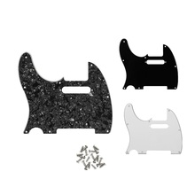 1pcs Left Handed Guitar Pickguard Scratch Plate Fit American/Mexican Standard FD Tele Guitar, Black/White/Black Pearl Choose