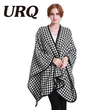 Winter poncho Scarf Big Plaid Scarf Designer Acrylic Shawls Women's Leopard Houndstooth Scarves Top quality 2017 new