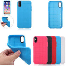 Horsebiao 20PCS,For iPhone X TPU Case,Honeycomb Net Grid Soft TPU Silicone Gel Case Back Cover Capa Fundas for iPhone X 10 Case(China)