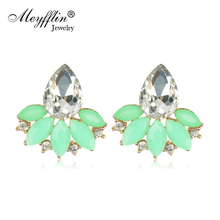 Buy Earrings Women 2017 Brincos Fashion Crystal Flower Stud Earrings Statement Bijoux Jewelry Boucle d'oreille Christmas Gifts for $1.61 in AliExpress store