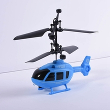 Kids Children Flying Mini RC Infraed Induction Aircraft Flashing Light Toys RC Airplanes Christmas Gift(China)