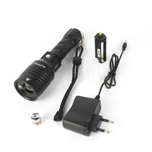 Boruit 08-1 800lm Cool White Light+ 50mW Green Laser Light Zooming LED Flashlight with Sky Star II (1x18650/3xAAA)