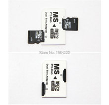 5pcs/lot Micro SD HC to Memory Stick MS Pro Duo Card Dual 2 Slot Adapter for Sony PSP 1000 2000 3000