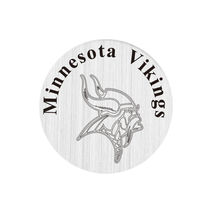20 Pcs 316L Stainless Steel Plate Minnesota Vikings Locket Plates Fit For 30mm Living Floating Glass Memory Locket(China)