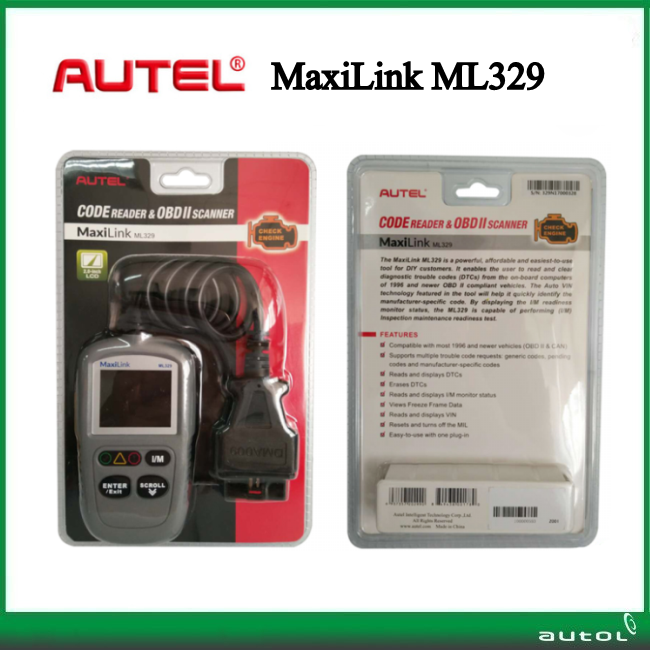 Original Aute MaxiLink ML329 Code Scanner Compatible with domestic, Asian and European vehicles, 1996 and newer(China (Mainland))