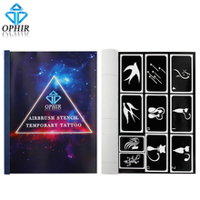 OPHIR 100 Designs Reusable Airbrush Body Paint Template Sheets A4 Henna Temporary Tattoo Stencil Body Art Supply _TA094(China)