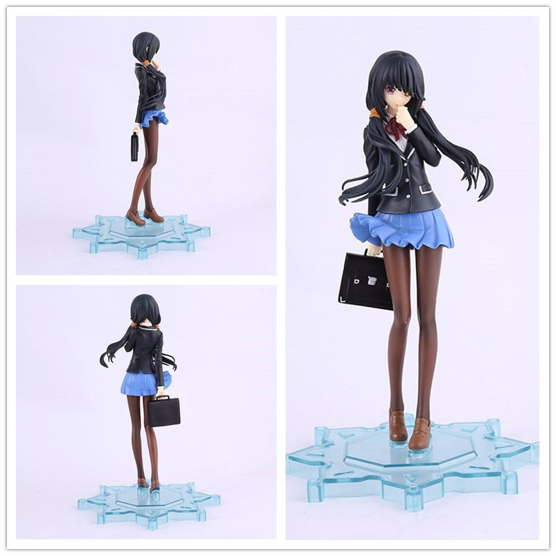 22cm PVC DATE A LIVE School Uniforms Nightmare Tokisaki Kurumi Action Figure Furnishing Articles Model Holiday Gifts Ornament<br>
