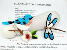 MIX2pcs butterfly Birds Embroidery sewing Iron on Patches For Clothing Apparel Badges Clothes Dresses handbags DIY Accessory