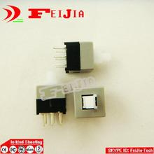20PCS 6 Pin Square 8.5mmx8.5mm New Product DPDT Mini Push Button Non Self Locking Switch(China)