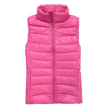 New 2016 autumn and winter women down vest 90%white duck down soft warm waistcoat plus size 3XL female outwear brand vest coat