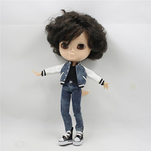 ICY factory blyth doll bjd neo Toy Gift boy short black hair without makeup 1/6 30cm