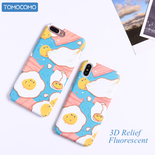 TOMOCOMO Funny Cartoon Fired Egg Case For iphone7 6 Case For iphone 8 8Plus Phone Cases Fashion Cute Hard PC Cover Capa Fundas(China)