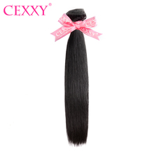 CEXXY Peruvian Hair Straight 100% Human Hair Weave Natural Color Remy Hair 8-28 Inch Free Shipping