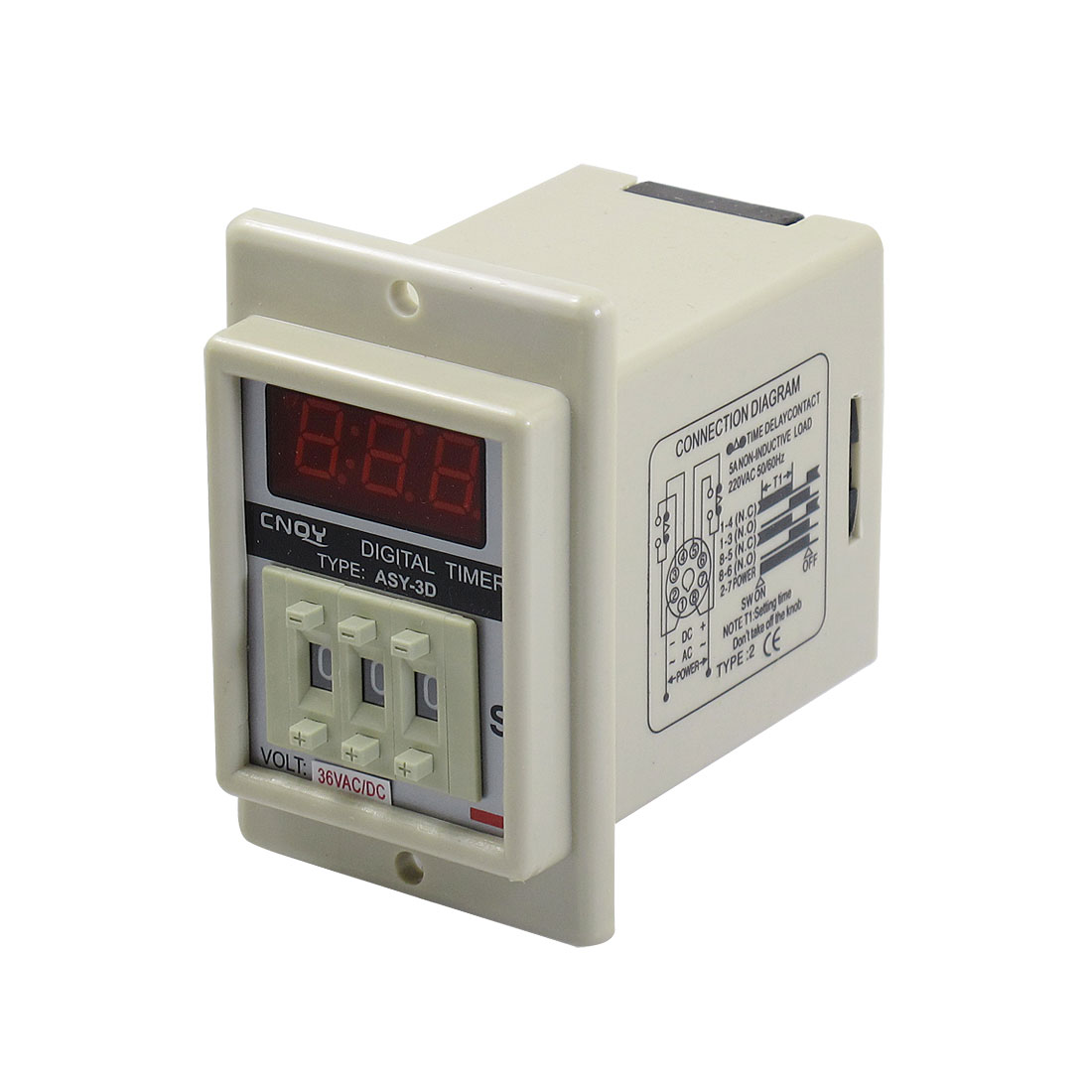 Ac/ 36V 8 Pin 0.1-99.9 Second Digital Timer Time Delay Relay Beige Asy-3D<br><br>Aliexpress