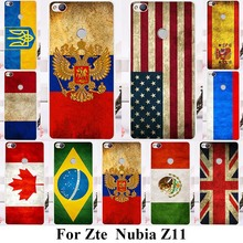Soft TPU Plastic Phone Cases For ZTE Nubia Z11 5.5 inch Covers UK Russia Flags Hard Soft Silicone Back Cover Shell Skin Housing
