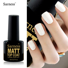 Sarness Varnish By Easy Clean Nail Art Lucky Matt Matte Top Coat Nail Gel Polish Nails Art Tips Dull Finish Top Coat Gel Lacquer(China)