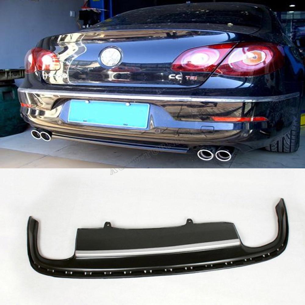 PU car rear bumper lip diffuser fit for  VW PASSAT CC 2008-2012<br><br>Aliexpress