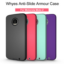 Whyes For Motorola Moto Z Case ShockProof Heat Dissipation For Motorola Moto Z Droid Phone Cover PC And TPU Anti-Slide Bags(China)