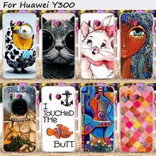 Hard Plastic Mobile Phone Cover For Huawei Ascend Y300 U8833 T8833 Cases Specially Design Cover Back Skin Shell Hood Housing