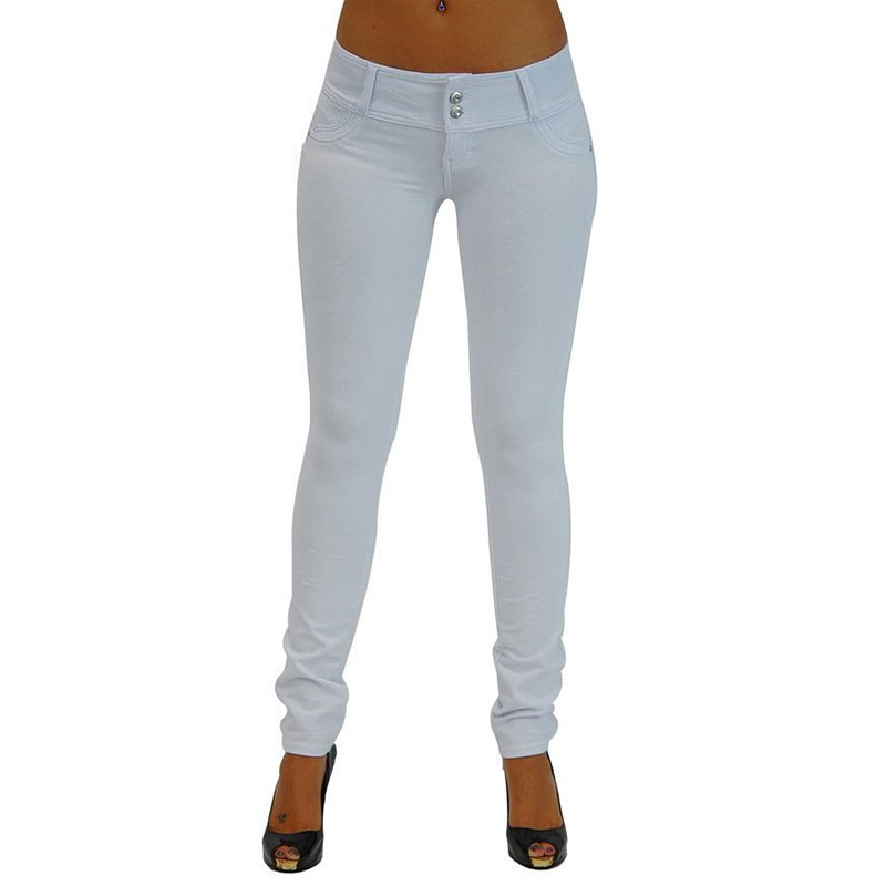 Sexy Push Up Leggings, Women's Denim Leggings, Casual Elastic Jeggings 19
