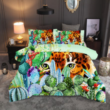 succulent plants cactus Flower 3D bedding set Duvet Covers Pillowcases twin full quenn king comforter bedding sets bed linen(China)
