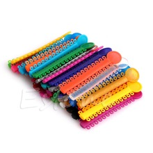 40 Pcs Sticks 1Pack Dental Ligature ties Orthodontics Elastic Rubber Bands Multi Color Hot!(China)