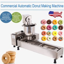 (Ship from USA) Commercial Automatic Electric Cake Donut Maker Making Machine Wide Oil Tank 3 Free Mold(China)